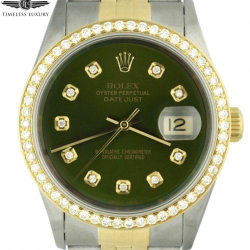 1995 Rolex Datejust 16233 diamond bezel