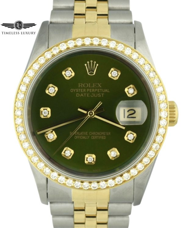 1995 Rolex Datejust 16233 diamond bezel