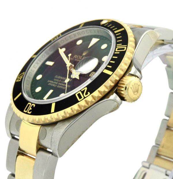 2007 rolex submariner 16613ln black dial