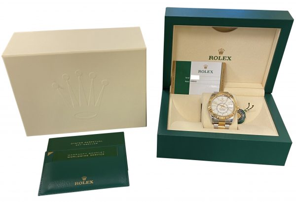 Men's Rolex Sky-Dweller 326933 Steel & Gold For Sale