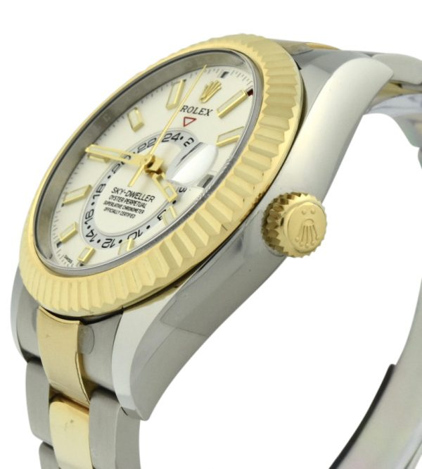rolex sky-dweller steel & gold