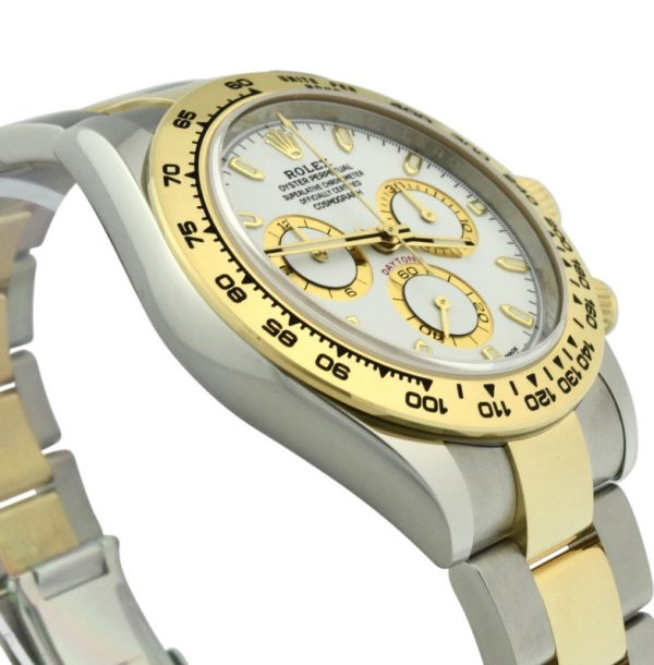 rolex Daytona 116503 steel & 18k gold white dial