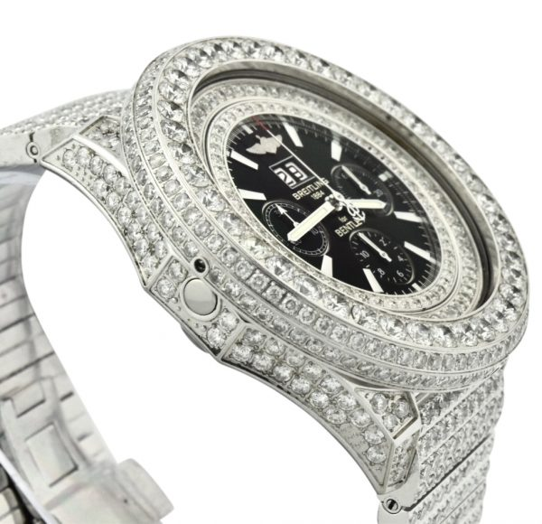 Custom Diamond breitling Bentley watch