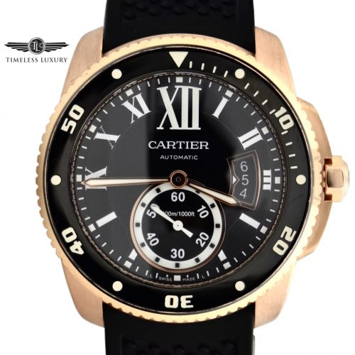 Men's Cartier Calibre Diver W7100052 ROSE GOLD FOR SALE