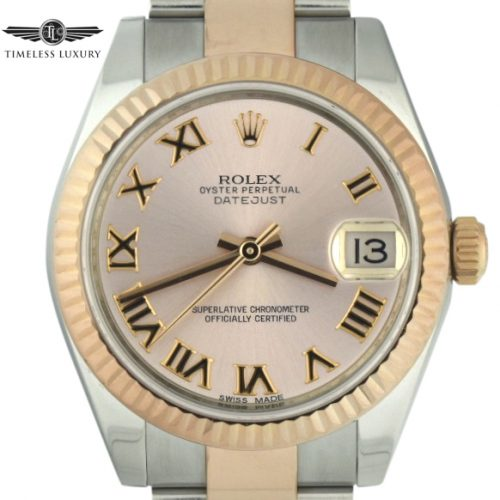 Ladies Rolex Datejust 31mm 178271 steel & rose gold