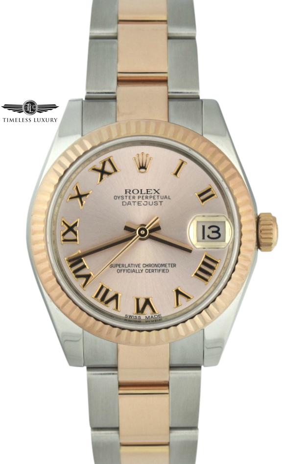 Ladies Rolex Datejust 31mm 178271 steel & rose gold