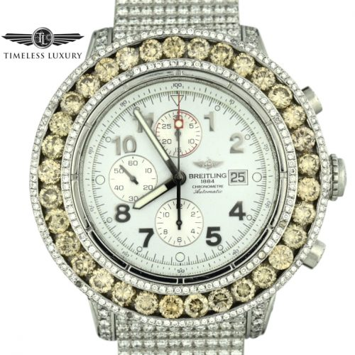 Custom Diamond Breitling Watch For Sale