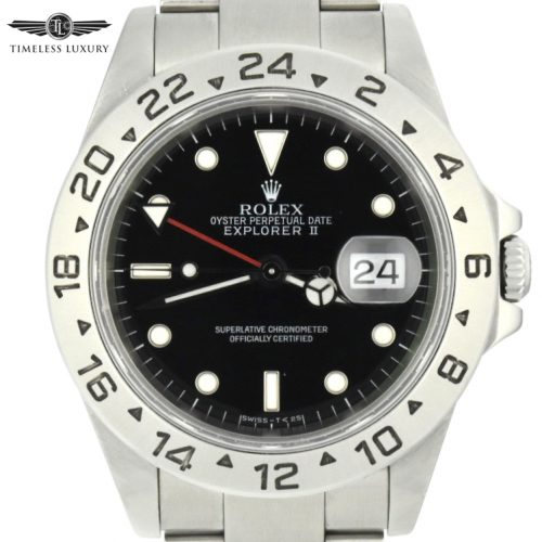 1998 Rolex Explorer II 40mm 16570 black dial