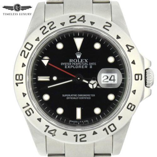 1998 Rolex Explorer II 40mm 16570 black dial