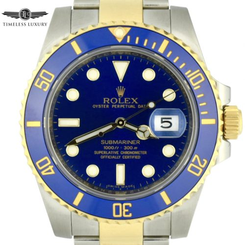 Rolex submariner 116613lb blue dial
