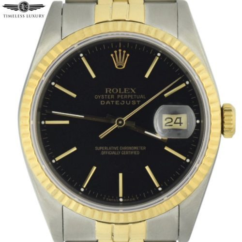 1990 Rolex Datejust 36mm 16233 black dial for sale