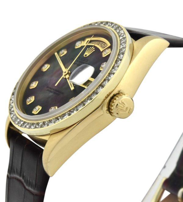 1980 Rolex President 18038 diamond bezel