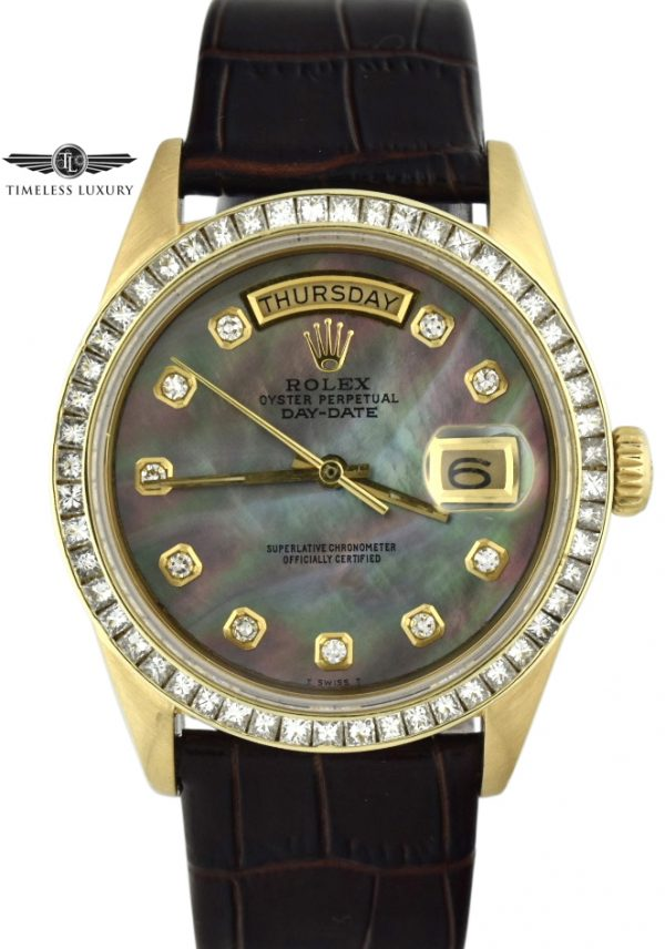 Rolex President 18038 diamond bezel watch