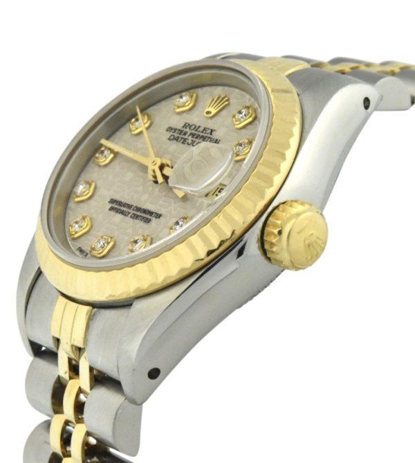 Ladies Rolex 69173 ivory diamond dial