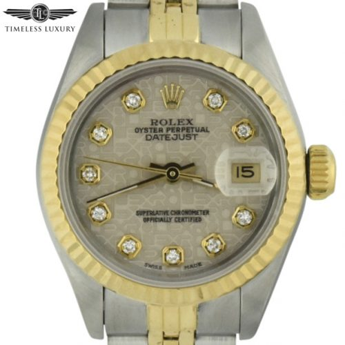 Ladies Rolex 69173 ivory diamond dial