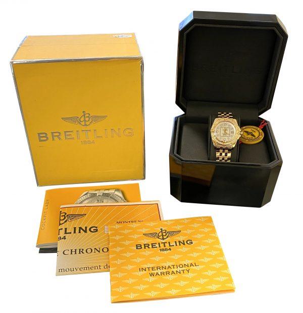 Ladies Breitling Cockpit 18k Gold K71356 FOR SALE