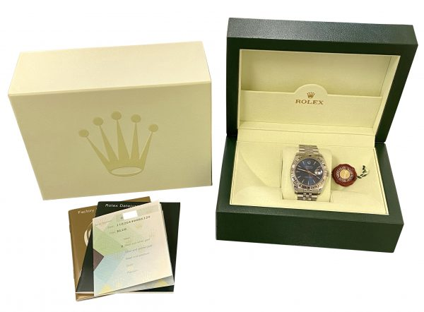 2005 Rolex Datejust Turn-O-Graph Blue Dial 116264