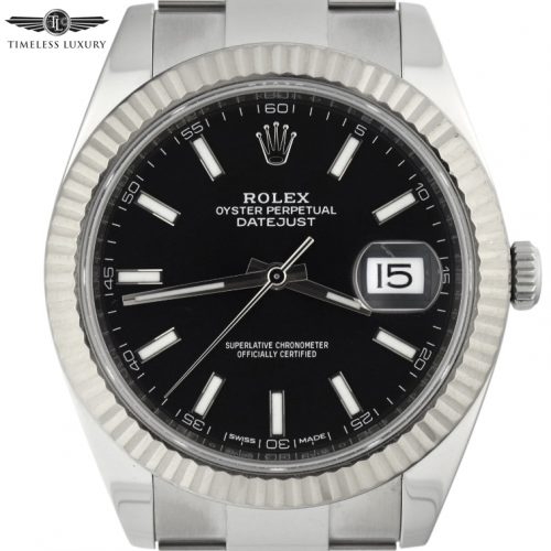 Men's Rolex Datejust II 41mm 126334 black dial for sale