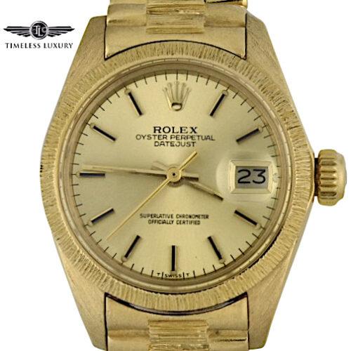 Vintage Ladies Rolex President 6927 Bark finish