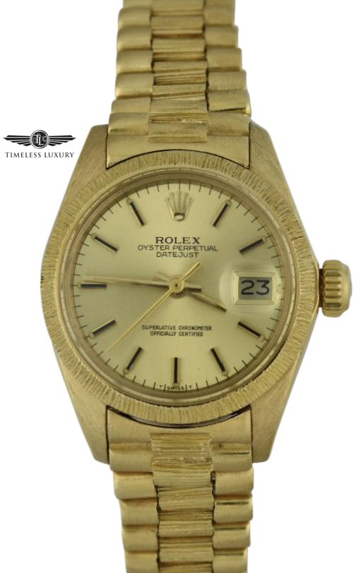 1978 Ladies Rolex 6927 Bark finish for sale