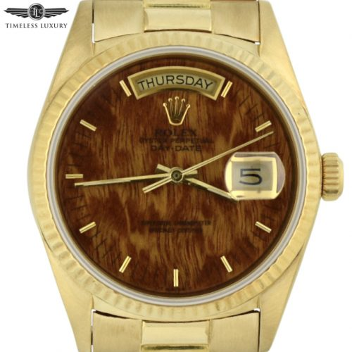 1987 Rolex president 18038 wood dial for sale