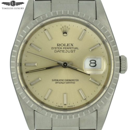 1991 Rolex Datejust 16220 silver dial for sale