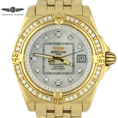 Ladies Breitling Cockpit K71356 18K GOLD