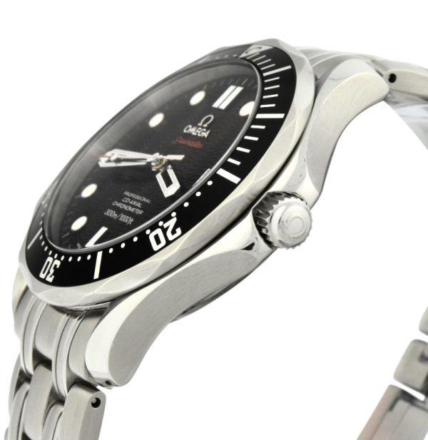 omega seamaster 300m chronometer black dial