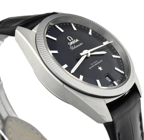 omega constellation globe master blue dial