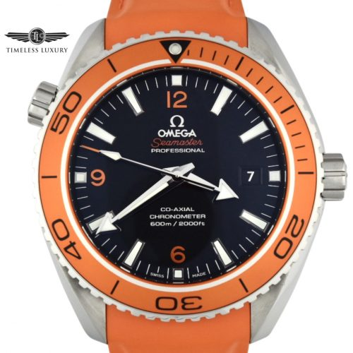 OMEGA Seamaster planet ocean orange bezel watch 232.32.46.21.01.001