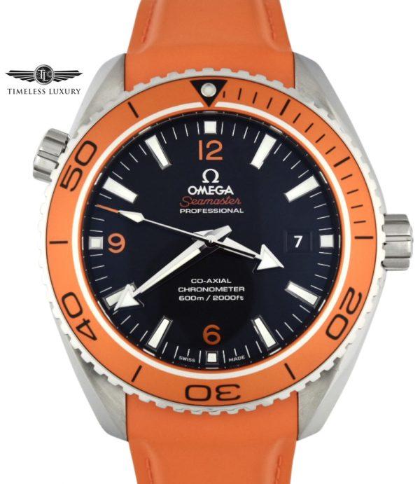 OMEGA Seamaster planet ocean orange bezel watch 232.32.46.21.01.001