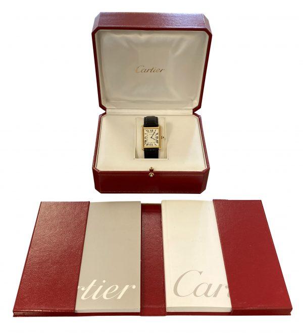 Men's Cartier Tank Solo Gold W5200004 For Sale