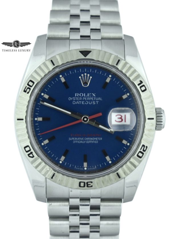 Rolex Datejust Turn-O-graph 116264 blue dial