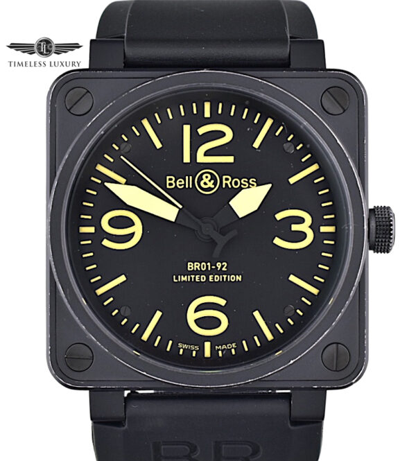 Bell & Ross Heritage BR01-92-S YLW Yellow Dial Limited Edition