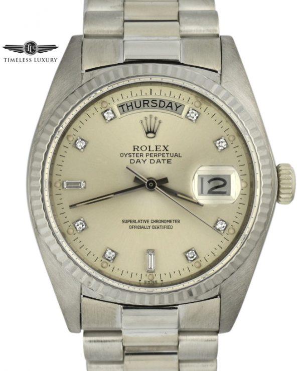 1981 Rolex President 18k white gold 18039