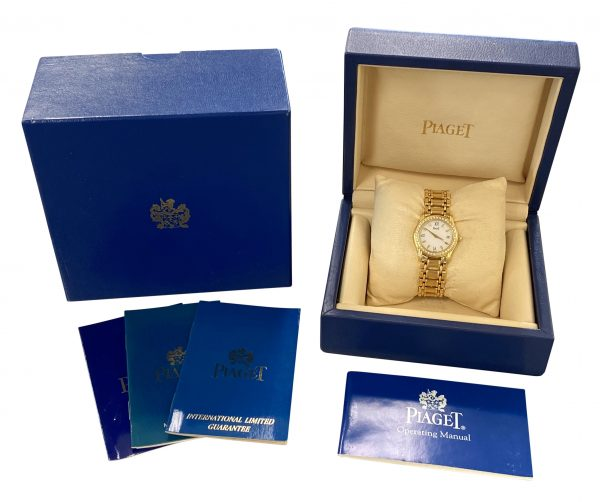 Ladies Piaget Polo 22005M501D GOLD DIAMOND WATCH FOR SALE