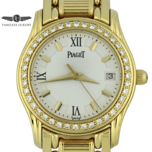 Ladies Piaget Polo 22005m501d diamond watch