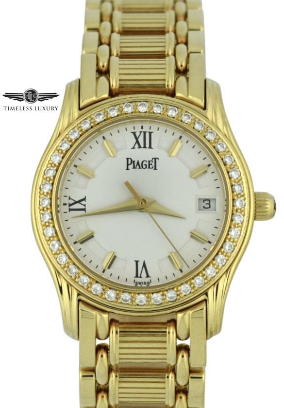 Ladies Piaget Polo 22005m501d diamond watch