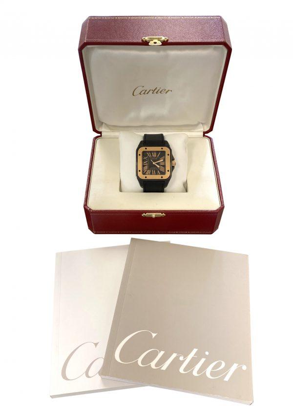 Men's Cartier Santos 100 38mm Black PVD W2020009 For sale