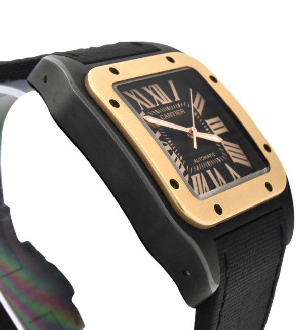 Cartier Santos 100 Black PVD & rose gold 2656
