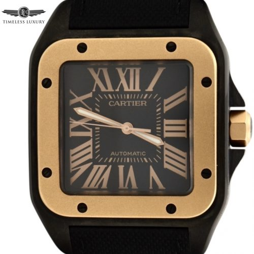 Cartier Santos 100 Black PVD 18K Rose gold W2020009