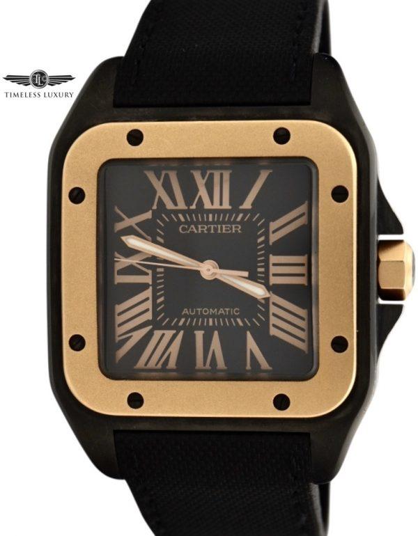 Cartier Santos 100 Black PVD 18K Rose gold W2020009