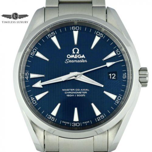 Omega seamaster aqua terra blue dial for sale