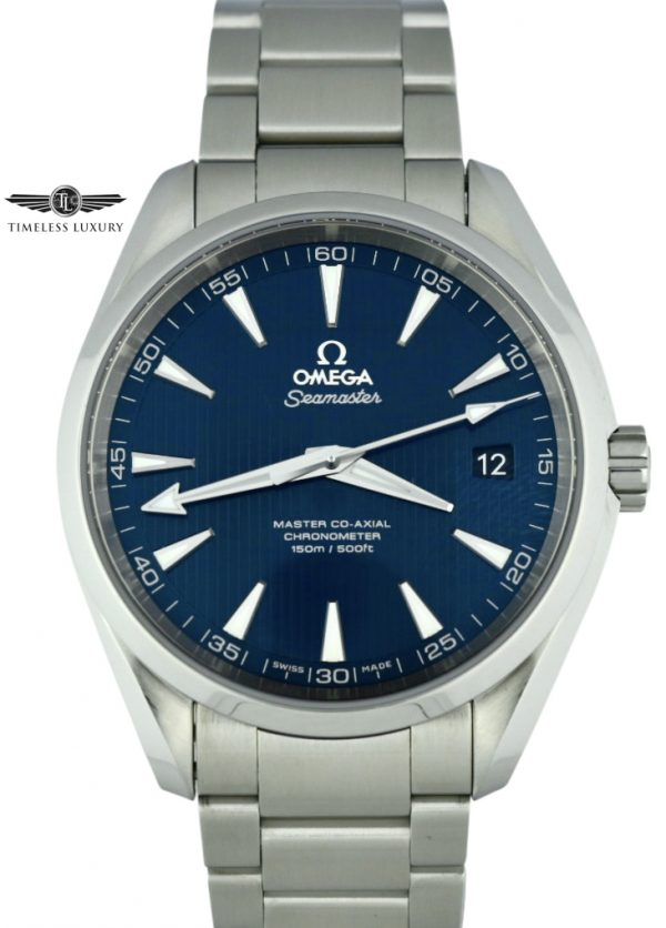 Omega seamaster aqua terra blue dial for sale