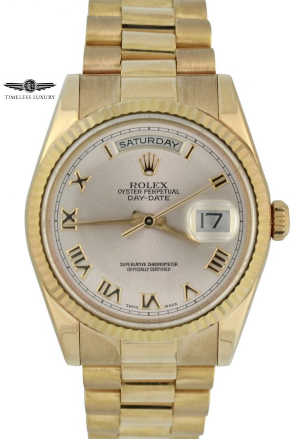 Rolex Day-Date President 118235 18k rose gold for sale