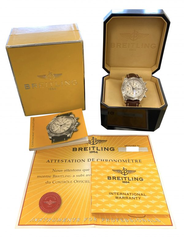 Men's Breitling chronomat A13356 White Dial For sale
