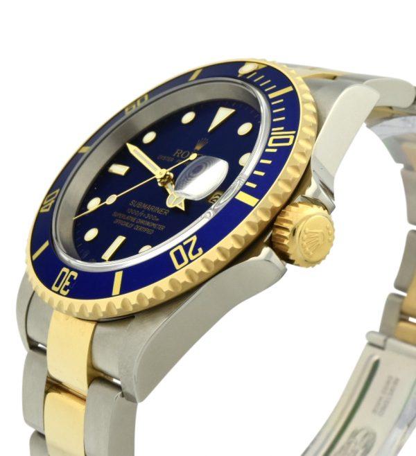 2005 rolex submariner 16613 blue