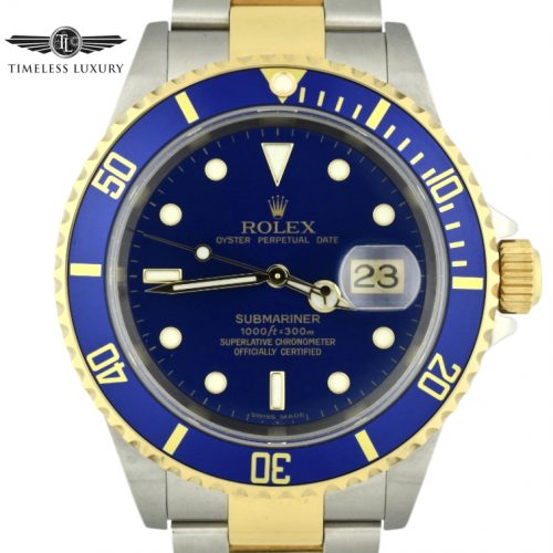 2005 Rolex Submariner 16613 Blue Dial NEW