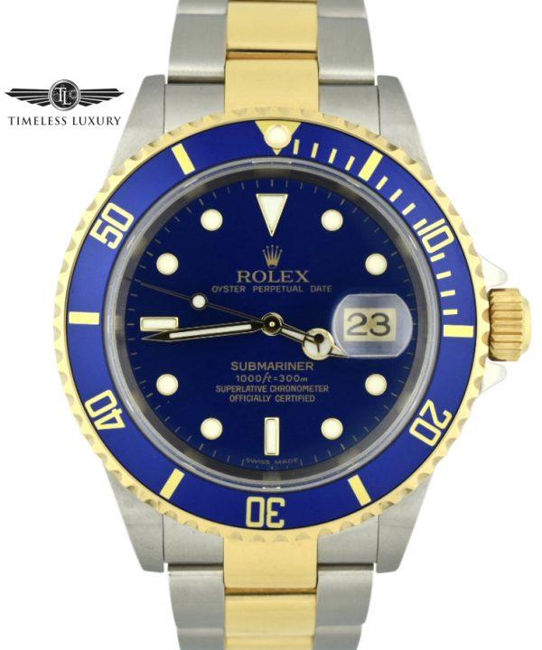 2005 Rolex Submariner 16613 Blue Dial NEW