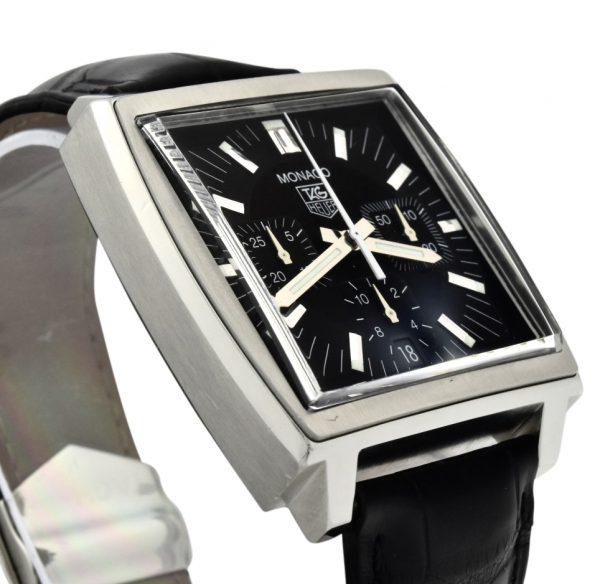 TAG Heuer Monaco CW2111 Black Dial Chronograph